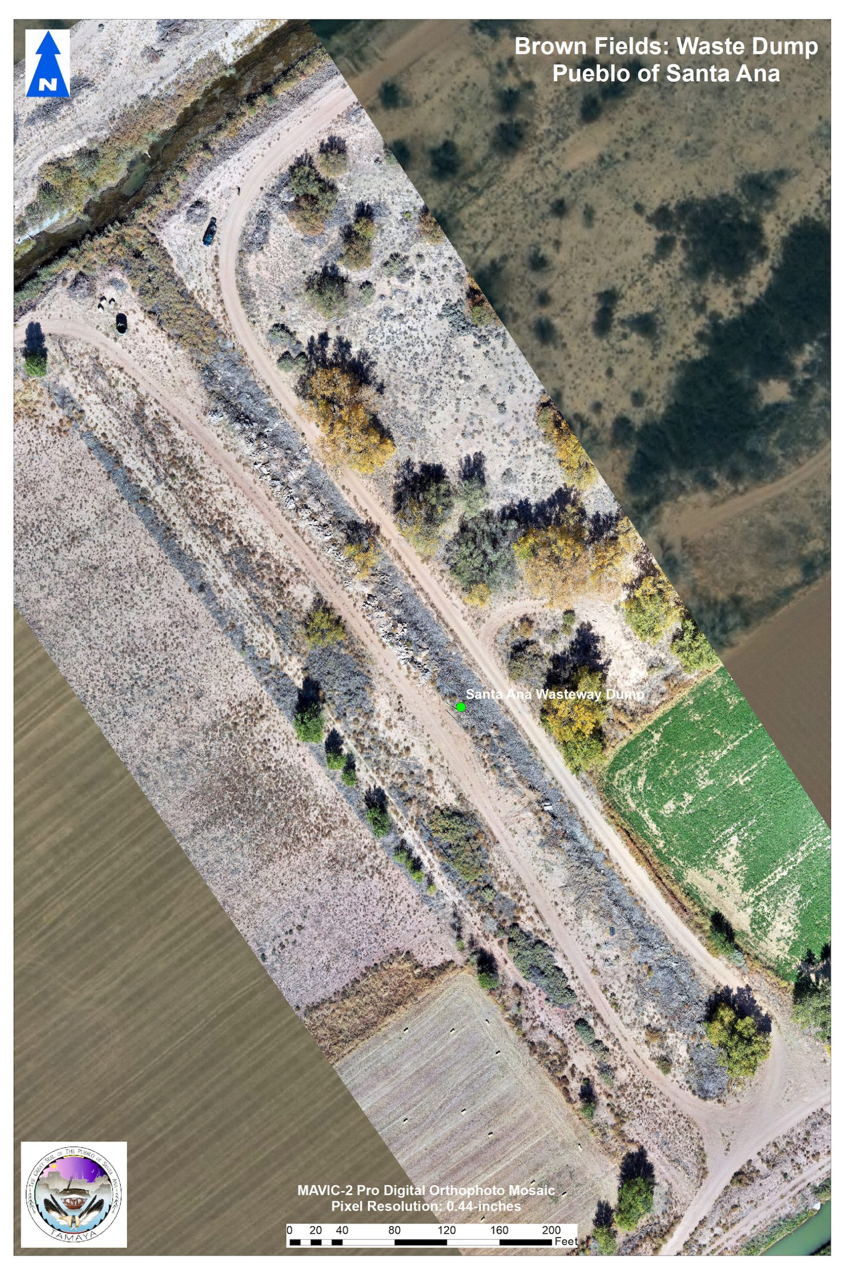 Santa Ana Wasteway Dump aerial