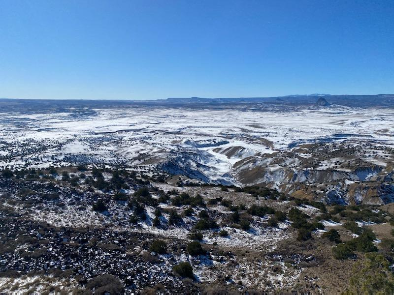 A clear view of a vast and snowy landscape and the native vegetation that can be affected by air quality (photo by V. Garcia)